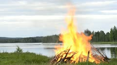 Big fire Stock Footage