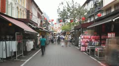 Chinatown in Singapore, time-lapse Stock Footage