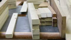 Wood on Table Interior Factory Stock Footage