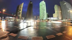Time lapse Potsdamer Platz Berlin - stock footage