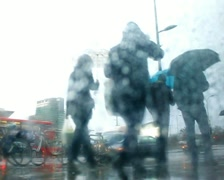 Rainy day London Shepards Bush PAL SD Stock Footage