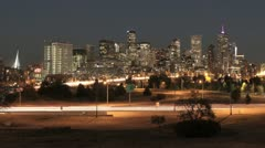 Denver at Night Time Lapse Arkistovideo