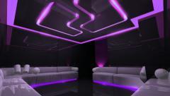 Led light of Club Room Stock Footage