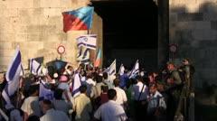 Epic Israeli Political Parade Stock Footage