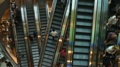 Escalators - stock footage
