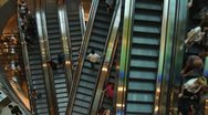 Stock Video Footage of Escalators