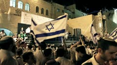 Israeli Dancing Political Festival Stock Footage