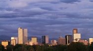 Stock Video Footage of Brilliant Sunrise over Denver Skyline
