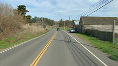 Driving Plate POV - Hwy 1 South Through Valley Ford 3 Stock Footage
