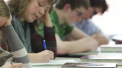 Students taking test - stock footage