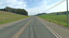 Driving Plate POV - Valley Ford Road 1 Stock Footage