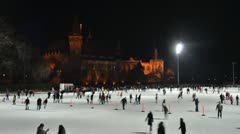 Iceskating Stock Footage