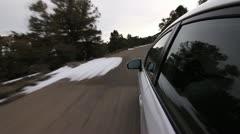 POV DRIVE DOWN MOUNTAIN - stock footage