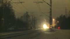 Local passenger train Stock Footage