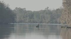 Fisherman on Suwannee River Stock Footage