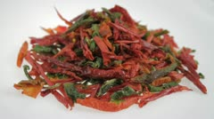 Dried chili isolated Stock Footage