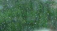 Heavy rain on a window Stock Footage
