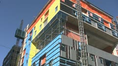 Colourful construction. Stock Footage