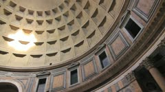 Pantheon ceiling view Stock Footage