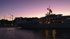 Yacht Harbor Time Lapse Stock Footage