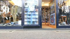 Clothes store front in Rome Stock Footage