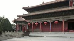 Tiankuang hall, Shandong, China Stock Footage