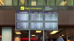Airport Board Singapore Stock Footage