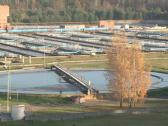 Stock Video Footage of water treatment plant