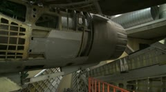 The organization and mechanisms of a combat aircraft Stock Footage
