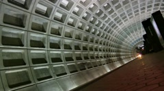 Empty platform, train Arrives, DC Metro Stock Footage