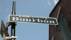Bourbon Street New Orleans Stock Footage