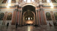 Basilica of St. Mary of the Angels and the Martyrs in Rome Stock Footage