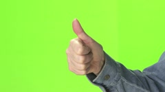 Thumbs up and down Stock Footage