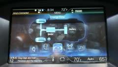 Electric car dash board Stock Footage