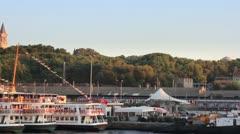 Eminonu harbor, Istanbul Stock Footage