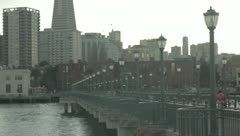 San Francisco from Pier 7 - stock footage