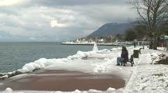 Ice Storm Effects Lake Geneva Arkistovideo
