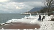 Stock Video Footage of Ice Storm Effects In Lake Geneva