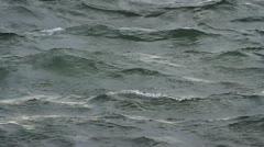 Wind blowing across rough sea Stock Footage