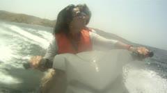 Waterbike Trip (Couple) Stock Footage