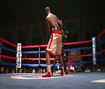 Stock Video Footage of Nondescript Boxing Punch