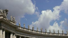East Colonnade at the Vatican, Rome, Italy - stock footage