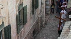 Christian Piligrims: Old City of Jerusalem Stock Footage