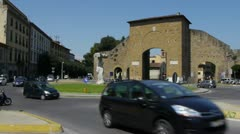 Florence - Piazzale di Porta Romana, Italy Stock Footage