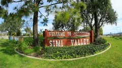 Simi Valley Sign 1 Stock Footage