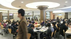 Tourists eat in restaurant in Vatican museum. Stock Footage