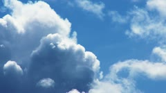 Timelapse of cumulus clouds forming Stock Footage