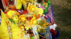 Many souvenirs for maslenitsa holiday Stock Footage