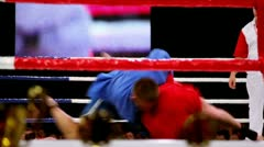 Wrestler make throw on boxing ring at The Battle of Moscow 3 Stock Footage