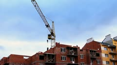 Crane Gives Two Slabs Timelapse Stock Footage